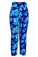Ancia Womens Tartan Active Workout Capri Leggings Fitted Stretch Tights from Ancia