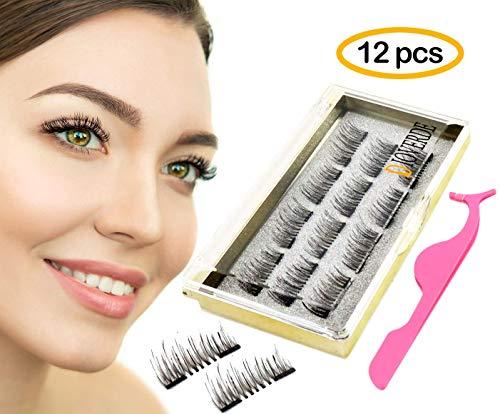 ac06837de91 DIOVERDE 12 PCS Upgraded Magnetic Eyelashes, Reusable Magnetic Eyelashes,  Great Ultra Thin Magnetic Eyelashes