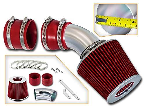 Rtunes Racing Short Ram Air Intake Kit + Filter Combo RED For 98-04 Seville SLS/STS 4.6L - Seville Cadillac 2000 Sls