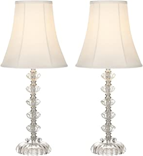 Set of 2 Quad Stacked Crystal Table Lamps - - Amazon.com
