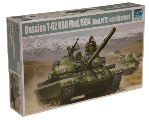 Trumpeter 1/35 Russian T62 BDD Mod 1984 Main Battle Tank (Best Main Battle Tank In The World Today)