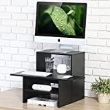 FITUEYES Standing Computer Desk with Keyboard Shelf SD306501WB