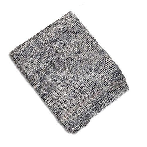 Ghillie Face Veil (ZAPT Military Tactical Head Wraps Cover Bandana Net Shemagh Scarf Camouflage Ghillie Sniper Face Wrap Veil Hood (ACU))