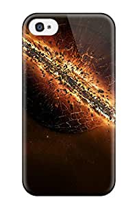 Quality Matt C Brown Case Cover With Planet Sci Fi Nice Appearance Compatible With Iphone 4/4s