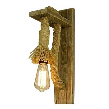 Bois Solide Épaisse Vintage Corde MuraleCreative Seeksung Lampe b6IfvYym7g