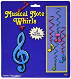 Kitchen & Housewares : Beistle 57623-N 5-Pack Neon Musical Note Whirls, 3-Feet