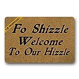 Artsbaba Welcome Doormat Fo Shizzle Welcome To Our Hizzle Door Mat Rubber Non-Slip Entrance Rug Floor Door Mat Funny Home Decor Indoor Mat 23.6 x 15.7 Inches