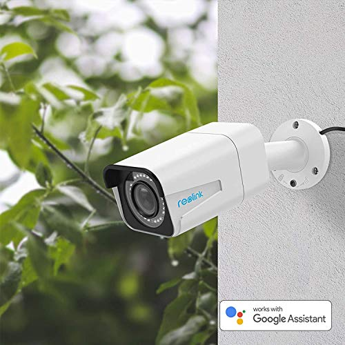 Reolink PoE Camera 5MP Super HD 4X Optical Zoom Outdoor Indoor Video Surveillance Work with Google Assistant, IP Security IR Night Vision Motion Detection with Phone App RLC-511