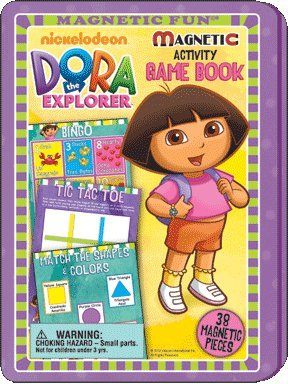 Explorer Game Dora Board The (Magnetic Fun® Tin: Dora the Explorer™ - Game Book & Tin)