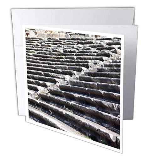 3dRose Danita Delimont - Turkey - Turkey, Anatolia, Aydin Province, Ruins of Miletus. Theater Seats. - 1 Greeting Card with Envelope (gc_312869_5)