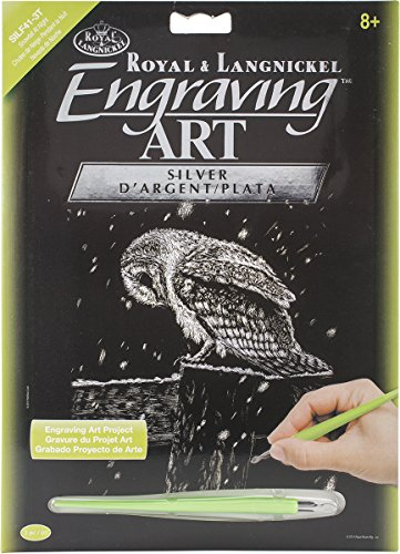 Royal Brush Silver Foil Engraving Art Kit, 8-Inch by 10-Inch, Snowfall at Night