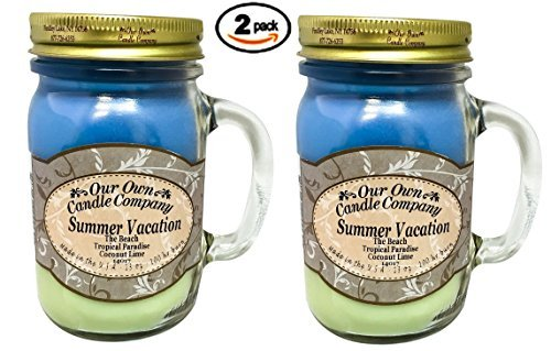 【高知インター店】 Summer Vacation香り13オンスMason Jar Candle by B07BB3GJM6 Our Own 2パック Candle Summer Company 2パック B07BB3GJM6, T-ALPHA:06971784 --- a0267596.xsph.ru