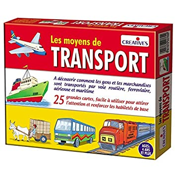 StonKraft Means of Transport (French) | Learn French | Learning Games | Educational Games & Toys | Matching Games for Kids & Toddlers