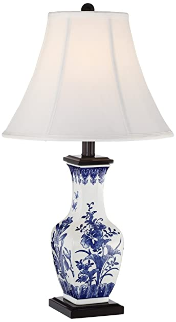 Benoit blue and white ceramic table lamp amazon benoit blue and white ceramic table lamp aloadofball Image collections