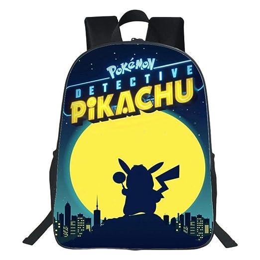 weyb Mochila Escolar De Anime para Niños Mochila Pokemon Pikachu ...