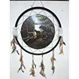 Quality Giant 26'' Diameter 40'' long Dream Catcher James Meger 3 Black Bears Woods Forest Art
