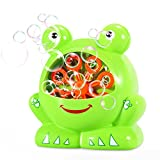 Geekper Automatic Bubble Machine for Outdoor or Indoor Use - Battery Operated Bubble Blower - Kid's Fun ( Green )