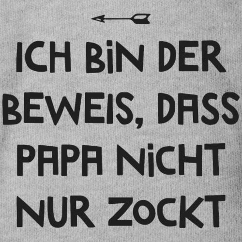 Spreadshirt Ich Bin der Beweis Papa Zockt Nicht Nur Gamer Vater Baby Bio-Kurzarm-Body