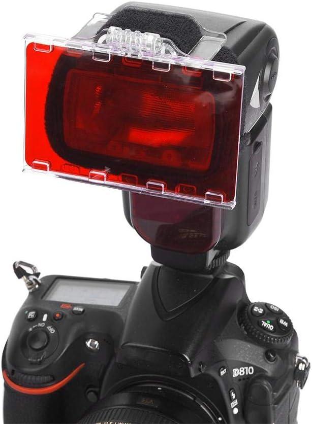 V BESTLIFE Flash Filter Set 18 Color Set Universal Camera Photo Speedlite Flash Lighting Gels Filters with Mount and Hook /& Loop for Canon