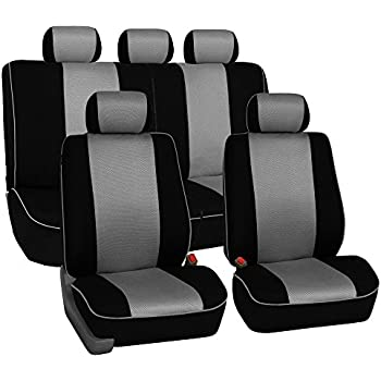 FH GROUP FB063115 Full Set Sports Fabric Car Seat Covers Airbag Compatible And