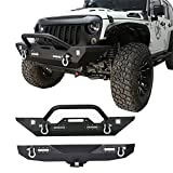 Hooke Road Textured Black Different Trail Front Bumper + Rear Bumper w 2