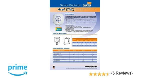 Cointra TNC-10 - Termo Eléctrico Vertical Tnc10 Con Capacidad De 10 Litros: Amazon.es: Bricolaje y herramientas