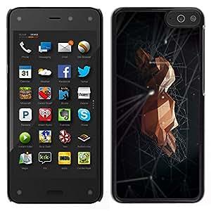 EJOY---Cubierta de la caja de protección para la piel dura ** Amazon Fire Phone ** --Roca Espacio Negro abstracto minimalista