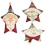 MINCHEO--Star Shape Stuffed Plush Doll Soft Pillow Toy Kids Xmas New Year Gift Present