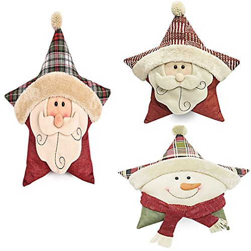 MINCHEO--Star Shape Stuffed Plush Doll Soft Pillow Toy Kids Xmas New Year Gift Present by MINCHEO