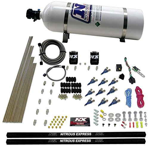 Nitrous Express 81000EFI-15 250-500 HP 10-Cylinder EFI Piranha Nozzle System with 15 lbs. Bottle