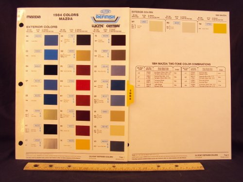 1984 84 MAZDA GLC, RX7, 626, GLC Wagon, B1600 Truck, & B2200 Truck Paint Colors Chip Page