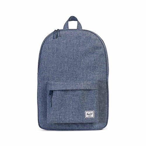 Tailored Backpack - Herschel Classic Backpack - Dark Chambray Crosshatch