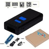 KKMO Wireless Mini Bluetooth 1D/2D/QR/PDF417/Data Matrix Imaging Barcode Scanner Bar Code Reader