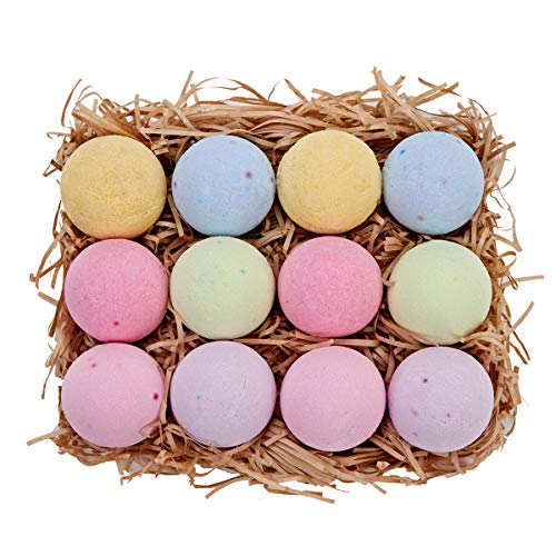 Spa Luxetique Handcrafted Bath Bombs Gift Set for Women, 3.2OZ/12 Lush Bath Fizzies Spa Kit, Natural Vegan Shea & Cocoa Butter Dry Skin Moisturize, Best Gift Idea for Birthday Mothers day for Her