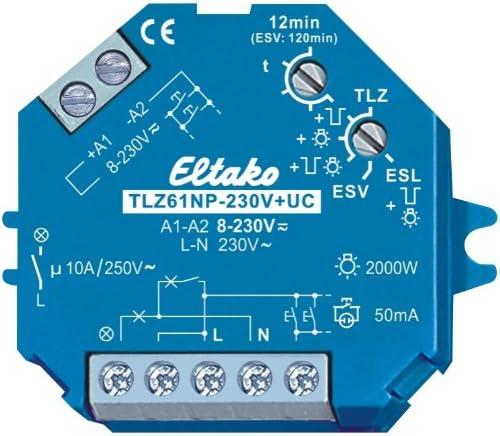 Eltako TLZ61NP-230V+UC - Minutero de escalera 230 V +UC: Amazon.es: Bricolaje y herramientas