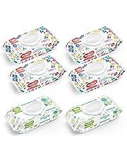 Huggies Toallitas Húmedas, Cuidado Hidratante y Cuidado Natural, Caja con 560 piezas (4 Paquetes de 100 c/u y 2 Paquetes de 80 c/u)
