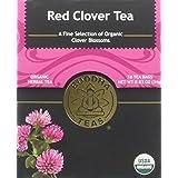 Organic Red Clover Tea - Kosher, Caffeine-Free, GMO-Free - 18 Bleach-Free Tea Bags