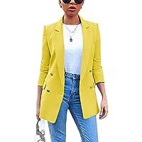 ORANDESIGNE Blazer Mujer Chaqueta de Traje Slim Fit Elegante Casual Oficina Negocios Outwear Solapa Manga Larga Chaqueta…