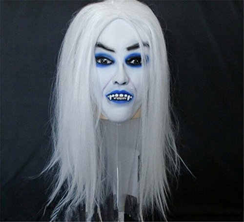 Tricky Horror Grimace Ghost Mask Scary Zombie Halloween by Wanheyao (Halloween Masks Scary)
