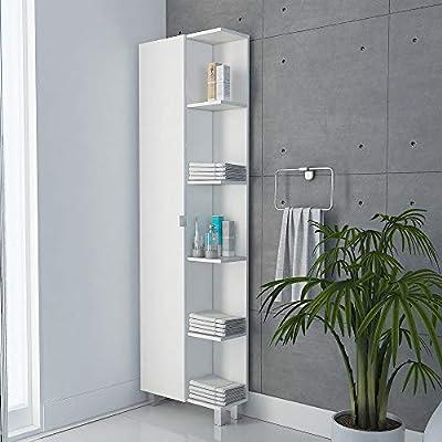 Tuhome Furniture Urano Linen Bathroom Cabinet in White