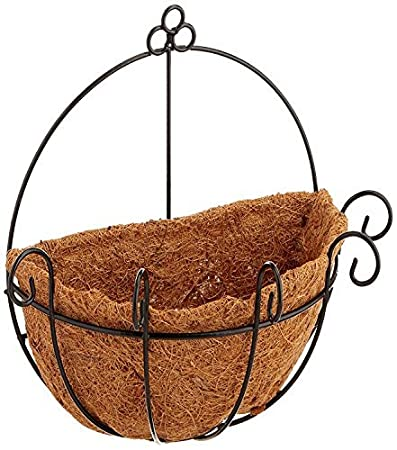 Joanna S Home Metal Wall Planter Hanging Basket With Coco Coir Liner