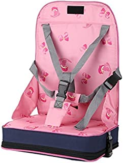 WYT Baby Booster Seats Adjustable Harness Travel Cushion Dining Chair