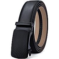 Bigant Mens Leather Ratchet Belt for Men Dress 1 3/8, Adjustable by Trim to Fit