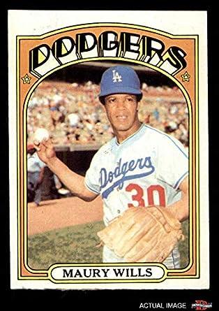 Amazoncom 1972 Topps 437 Maury Wills Los Angeles Dodgers
