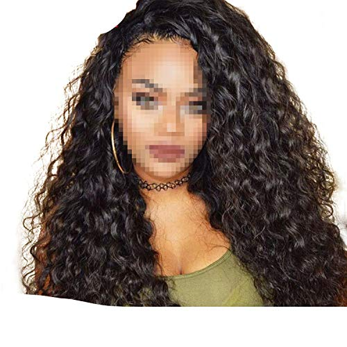 Brazilian Water Wave Lace Front Human Hair Wigs Front Lace Wigs With Baby Hair Pre Plucked Natural Hairline 150% Remy,14inches,150%]()