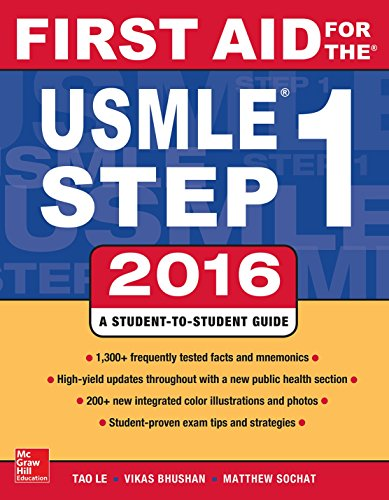 First Aid for the USMLE Step 1 2016 (26th 2015) [Le, Bhushan & Sochat]