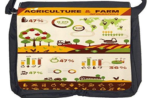 Borsa Tracolla Divertimento Agricoltura Stampato