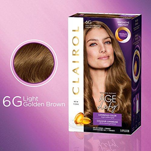 Clairol Age Defy Permanent Hair Color, 6G Light