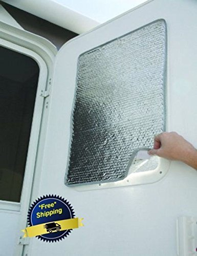 -=LiU=- SunShield 16 x 24 Door Window Cover Camco Reflective Motorhome Shade RV Camper (Curtains Reflective Solar)