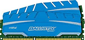 Crucial Ballistix Sport XT 8GB Kit 4GBx2 DDR3 1600 MT/s PC3-12800 CL9 at 1.5V UDIMM 240-Pin Memory Modules BLS2K4G3D169DS3